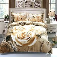 rose duvet cover home textile gold rose bedding set luxury red rose flower bed linen include