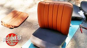refurbishing the old bus seats with some help from sewfine interiors