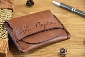 personalized leather wallet mens handmade wallet flap wallet minimalist credit card wallet