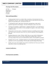 legal secretary job description resume com legal assistant job description template for word