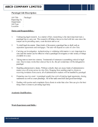 Legal Secretary Job Description Resume Recentresumes Com