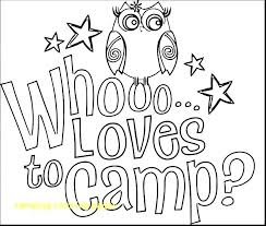 Coloring Camping Coloring Pages With Brownie Girl Scout Incredible