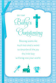 Card For Baby Boy Blue Cross Baby Boy Christening Card