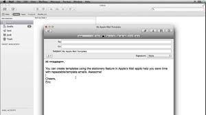 mac email templates how to create apple mail templates youtube
