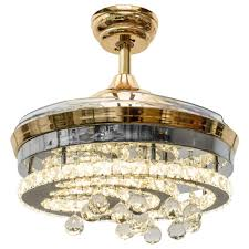 Crystal Light Fixture For Ceiling Fan Huston Fan Modern Crystal Chandelier Ceiling Fan With 4