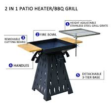outsunny wood burning charcoal outdoor fire pit bbq grill combo