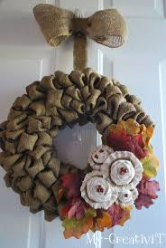 Fall Burlap Wreath from - My CreativiT diy-and-other-neat-ideas -i-wish-i-had-the-time-to-