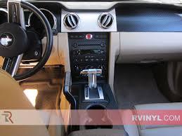 ford mustang 2005 2009 carbon fiber dash kits