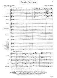 essay for orchestra by elliot del borgo j w pepper sheet music essay for orchestra elliot del borgo neil a kjos music company