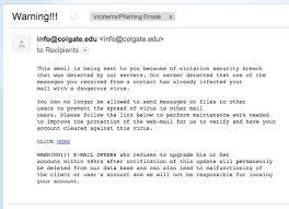 Phishing Colgate University