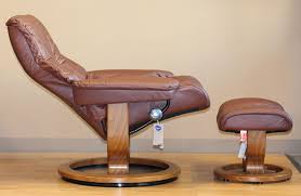 image of leather chair and ottoman sets type