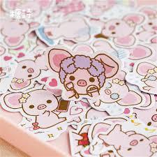 45Pcs/set <b>kawaii</b> Memo pad <b>cute</b> creativa <b>Pink Pig</b> pattern planner ...