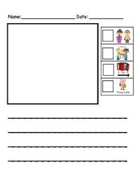 Free kindergarten writing paper template (show and tell). Kindergarten Writing Paper With Rubrics By Kindergarten Swag Tpt