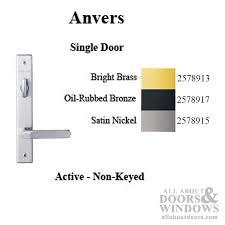 hardware kit single door anvers active door satin nickel