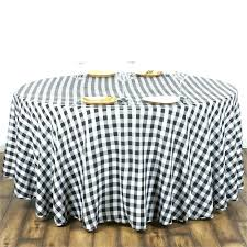 red gingham plastic tablecloth round vinyl