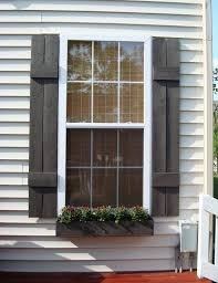 Remodelaholic  Inspiring Outdoor Window Treatments - Shutters window exterior