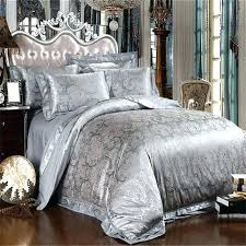 silver bedding sets white and silver comforter set king size bed sheets sets grey satin silk silver bedding sets