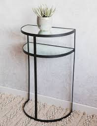 mirror console table. Half Moon Metal \u0026 Mirrored Console Table Mirror
