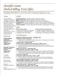 Medical Billing Resume Template Medical Billing And Coding Resume Resume  Templates Ideas