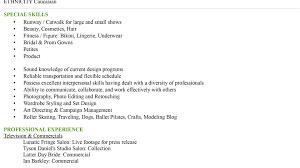 Ideas Of Baby Model Resume Modeling Resume Sample Model Samples For