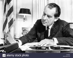 nixon office. President Richard Nixon In His Office At The White House Studying Background Material For Upcoming European Trip. Feb. 2, S