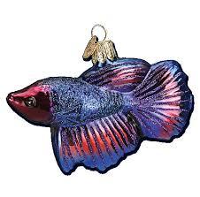 Betta Fish Glass Ornament