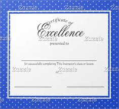 School Certificate Templates Awesome Excellence Certificate Template Trisamoorddinerco