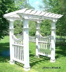 diy garden arbors arbor trellis plans
