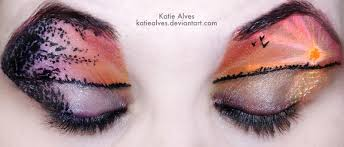 create a sunset on your eyes with makeup free tutorial with pictures on how to