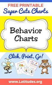 printable behavior charts for kids acn latitudes behavior charts