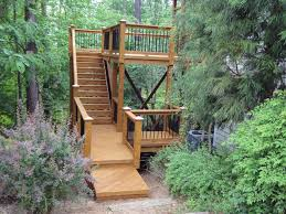 exterior exterior amazing deck with stair decoration for outdoor living space design with black iron