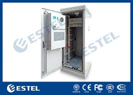Custom Outdoor Telecom Cabinet , Telecom Equipment Cabinet With ...