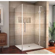 aston avalux 42 in x 32 in x 72 in completely frameless shower