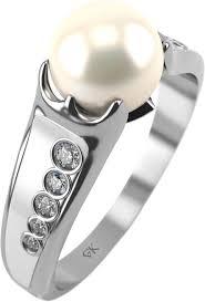 Серебряное <b>кольцо Graf Кольцов LS</b>-k2/<b>s</b> с жемчугом, фианитами ...