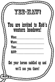 western invitation templates you can make these lasso western invitation templates you can make these lasso invitations yourself by saving this template