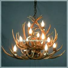 small faux antler chandelier deer whitetail one rustic for white uk