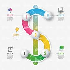 116 Finance Infographic Template With 3d Dollar Sign