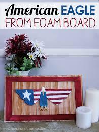 simple american eagle wall art from foam board