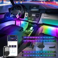 Amazon Car Lights Govee Dreamcolor Car Interior Lights With App And Ir Remote Upgraded 2 In 1 Design 4pcs 72 Leds Interior Car Lights Diy Color Led Lighting Kits Sync