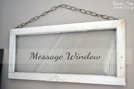 repurposed window becomes diy wall art a message window