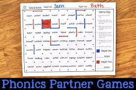 Includes differentiated support and independent sheets. Partner Phonics Games For Decoding Two Syllable Words