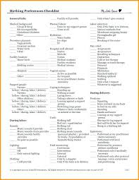 Home Birth Plan Worksheet Natural Birth Plan Template Home Sample Asctech Co