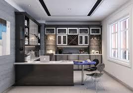 home office modern home. Modern Home Office With Kitchen Style Design