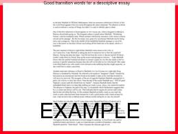 good transition words for a descriptive essay homework writing service good transition words for a descriptive essay writing a doctoral thesis transition words for expository