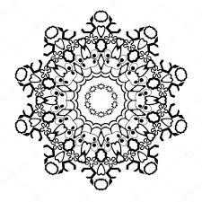 Zwart Wit Mandala Een Circulaire Patroon Kaart Heilige Geometrie