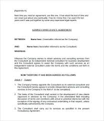 Sra Agreement Free Consultant Contract Template Floppiness Templates