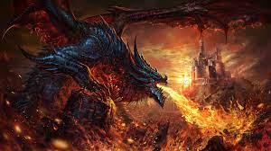 Dragon Fire Breath Fantasy 4K Wallpaper #73