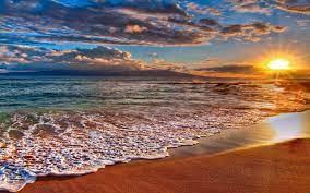 Beach sunset wallpaper, Beach landscape ...