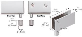 crl satin chrome wide glass door pivot hinge eh328 by c r laurence