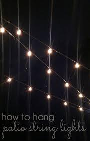 hang lighting. How To Hang Patio String Lights Lighting S